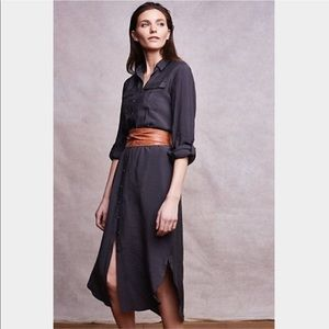 Anthropologie Maeve Drawstring Shirt Dress Size 0